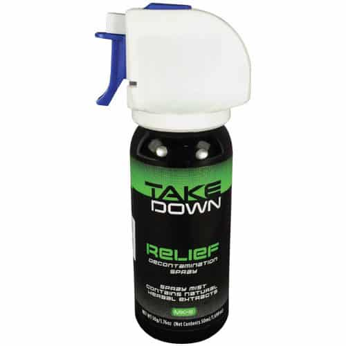 OC Relief Take Down Decontamination Spray Full View