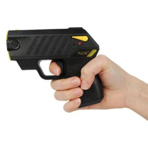 Taser® Pulse Plus With Laser, LED, In Hand Right Side View