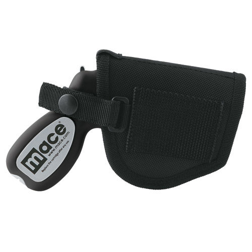 Mace Pepper Spray Holster Side View Black