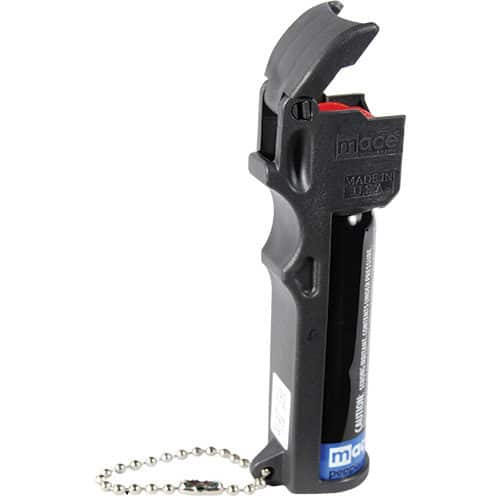 Mace® Triple Action Police Pepper Spray Key Chain Side View Flip Top
