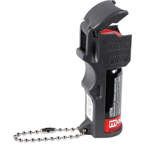 Mace® PepperGard Pocket Pepper Spray key Chain Right Side View Flip Top