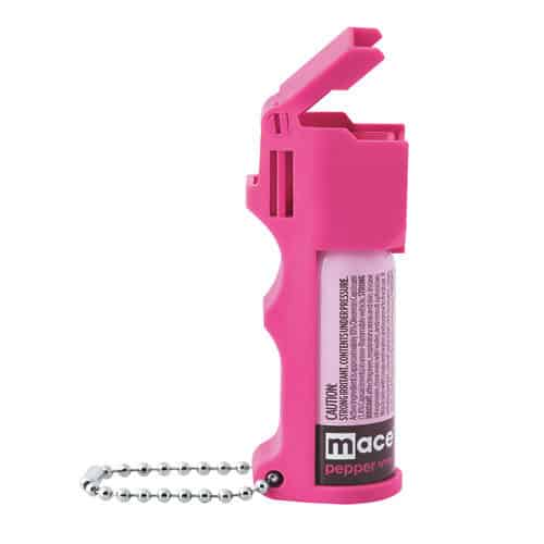 Mace® Pocket Model Hot Pink 10% Pepper Spray Flip Top Left Side View