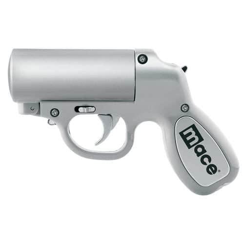 Mace® Pepper Gun Silver Side View