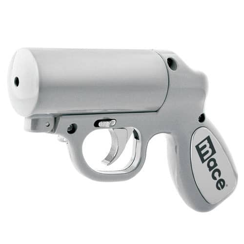 Mace® Pepper Gun Silver Left Angle View