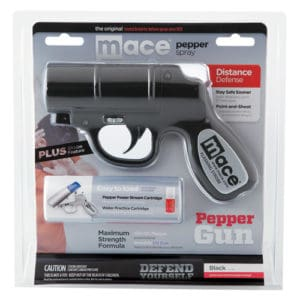 Mace®Pepper Gun with STROBE LED Black In Package