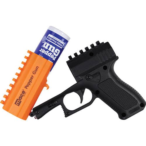 Mace® Brand Pepper Gun 2.0 Black Open Top With Canister