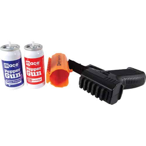 Mace® Brand Pepper Gun 2.0 Open Side View With Separate Canisters