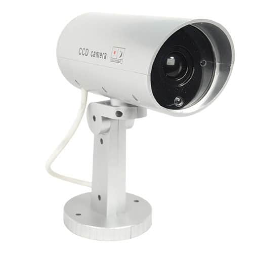 Front View Indoor/Outdoor Motion Activated Dummy Camera With LED Light Front View