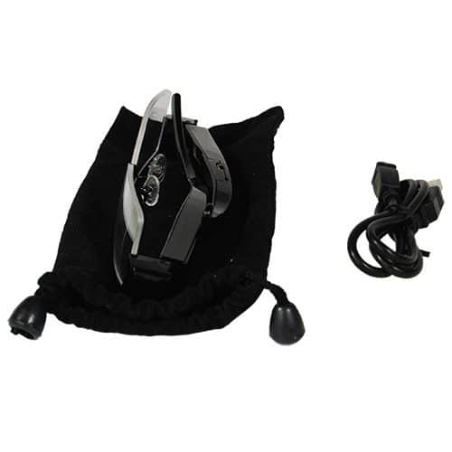Hidden Camera Glasses carrying bag, USB cable,