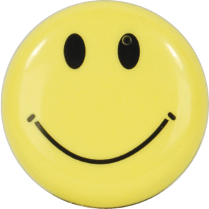Smiley Face Button Hidden Camera Front