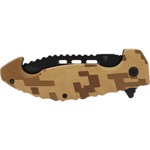 Camouflage Knife Side View Folded