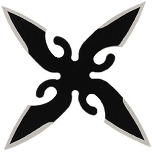 Throwing Star Black Front View
